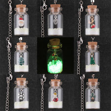 GLOW IN THE DARK CHRISTMAS PENDANT WISHING BOTTLE NECKLACE SANTE CLAUS XMAS GIFT