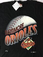 Vtg Baltimore Orioles T-Shirt Men's Women's XL Baseball Diamond Bird Logo Orange