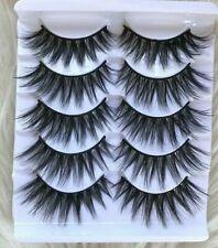 ✨🎀 5 Pairs Natural Mink Lashes Eyelashes Makeup 3D  • USA SELLER🎀✨