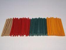 "100 MIXED 5 1/8"" KNEX RODS Tan Red Metallic Green Orange K'nex Parts/Pieces"