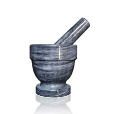 Mortar Classic Marble Grey Polished Pestle Gray Marble Mortar Pestle 10x10cm