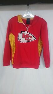 Kansas City Chiefs Youth L (14/16) Hoodie Zipper Sweatshirt NFL Team Apparel