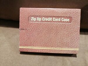 "Zip Up Credit Card Case 94253 Black New In Box Wallet 4.25""x3"""