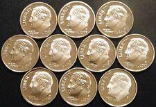 2000-2009 S Roosevelt Dime Gem DCam Proof Run 10 Coin Decade Set US Mint Lot.
