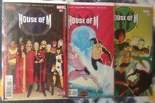 HOUSE OF M #1, 2, 3 / Secret Wars (X-Men / Magneto) - Marvel Comics (2015)