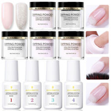 9Pcs/Set 10ml BORN PRETTY Clear Dipping System Powder Nail Art Dip Liquid Tips