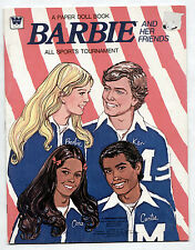 Vintage Whitman Barbie SPORTS paper dolls book 1975 uncut/Cara/African American+