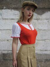stretta Pullunderdress DDR Body Bluse Dederon TrueVINTAGE top nylon wiesn dirndl
