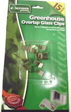 PACK OF 15 GREENHOUSE OVERLAP GLASS Z CLIPS FOR ALUMINIUM GREENHOUSE  GSHOUSE3