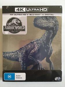 NEW Jurassic World Fallen Kingdom 4K UHD HDR Bluray Steelbook Limited Edition