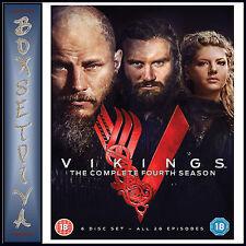 Vikings Complete Fourth Season 4 DVD Region 4