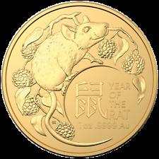 Australien 100 Dollar 2020 - Jahr der Ratte Premium-Anlagemünze - 1 Oz Gold ST