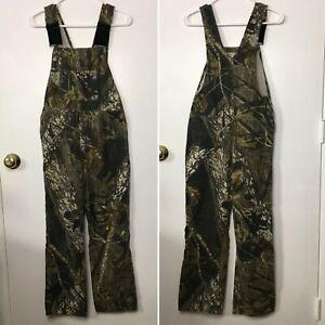 FIELD STAFF YOUTH LARGE 12/14 bib overalls camo mossy oak pants camouflage