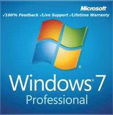 Microsoft Windows 7 Pro 32 or 64 BIT  Genuine License Key Product Code