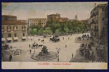 """PALERMO GIARDINO GARIBALDI VIAGGIATA fp """"900 #16091"""