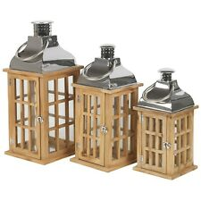 Wooden Lantern Candle Holder Tealight Summer Patio Decoration Outdoor Indoors