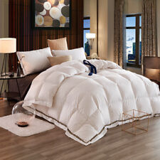 Luxury White Goose Down Feather Winter 4 Seasons Duvet Quilt Comforter-4 Sizes
