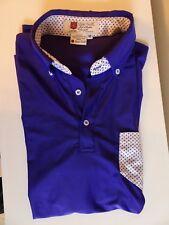 Iliac Golf Bert Lamar Mens Shirt The Pocket Sz M Purple Black White Polka Dot
