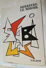 CALDER Derrière le Miroir n° 141 DLM 8 Lithographies Tirage original 1963
