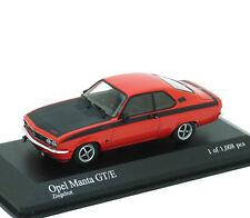 Opel Manta A GT/E GTE 1974 rot schwarz red black rouge Minichamps 400045506 1:43