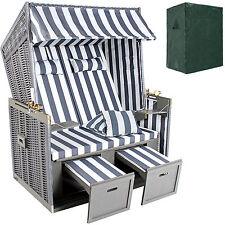 Chaise cabine de plage de luxe corbeille fauteuil chaise jardin blanc - gris