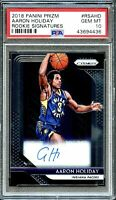2018 Panini Prizm Aaron Holiday Rookie Signatures Auto Prizm PSA 10 Gem Mint RC