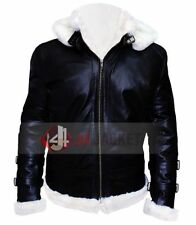 Aviator B3 Black Shearling Fly Real Bomber Winter Leather Jacket ALL SIZES