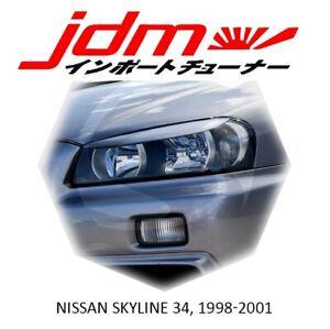 For Nissan Skyline 34 GT-R Eyebrows Eyelids Eye Line 1998-2001 2pcs