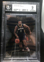 ZION WILLIAMSON 2019 PANINI SELECT CONCOURSE #1 ROOKIE RC BGS 9 MINT 3x9.5 SUBS