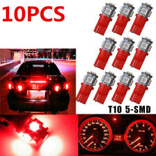 10X Car Pure Red T10 LED 8SMD Side Wedge Light Bulb W5W 194 168 2825 501 192