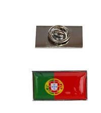 Portugal Bandera Pin con bolsa de organza libre de corbata