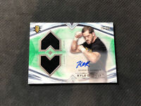 2020 TOPPS WWE UNDISPUTED KYLE O'REILLY AUTO DUAL SHIRT RELIC GREEN #ed 12/50