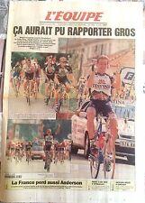 L'Equipe Journal 25/7/1997; Tour de France; Didier Rous et Festina/ Anderson