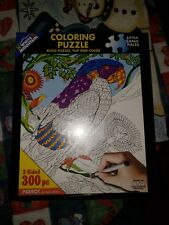 White Mountain Puzzles Parrot Coloring Puzzle  - 300 Piece Jigsaw Puzzle SEALED