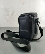 Genuine Sony Cybershot Black Leather Soft Camera Case with Strap