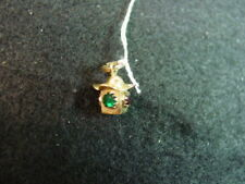 with Green and Red Gemstones 18k gold Stop Light Charm