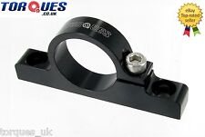 Billet Aluminium Fuel Filter Cradle / Clamp In Black 30mm I.D