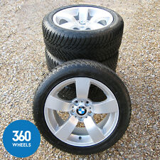 "GENUINE BMW 17"" 122 STAR SPOKE ALLOY WHEELS WINTER SNOW TYRES 5 SERIES E60 E61"