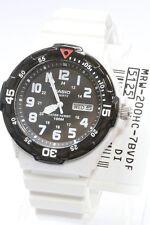 Casio Men Teens Watch 100m Date Day Quartz Analog White Rubber Mrw-200hc-7b