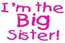 I'M THE BIG SISTER A5 IRON ON TRANSFER A5 BIG SISTER DESIGN T SHIRT TRANSFER A5