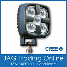 DELUXE 15W CREE LED FLOOD/WORK LAMP 12V~24V - Boat/Deck/Truck/Driving/DRL Light