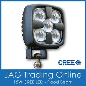 DELUXE 15W CREE LED FLOOD/WORK LAMP 12V~24V - Boat/Deck/Truck/Driving/DRL Light