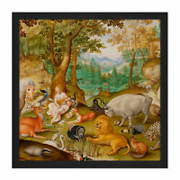 Jacob Hoefnagel Orpheus Charming The Animals Cropped Square Framed Wall Art