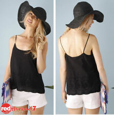 Acrylic Casual Sleeveless Knit Tops & Blouses for Women
