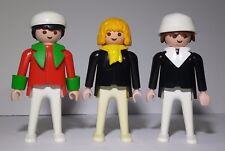 Vintage 1974 Geobra Playmobil Lot of Three Men figures