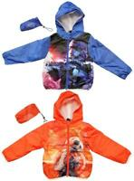 Boys Star Wars BB-8 Droid Lightweight Hoody Rain Jacket with Pouch 4 to 10 Years
