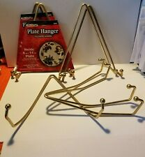 """Fibre Craft Plate Hangers for 8""""- 11"""" Plates Metal Ball Ends Lot of 7"""