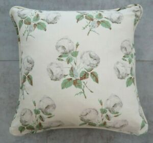"COLEFAX AND FOWLER FABRIC CUSHION COVER ""Bowood""  PIPED 18"" x18"" LINEN UNION"