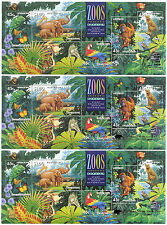 Australia Endangered Animals 1994 Miniature Stamp Sheets Set of 3 with Overprint