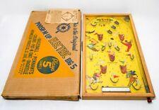 RARE VINT 1930'S POOSH M-UP JR BIG 5 PINBALL BAGATELLE ELECTRIC GAME W/ORIG BOX